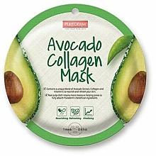 Düfte, Parfümerie und Kosmetik Pflegende und erfrischende Tuchmaske mit Avocadoextrakt, Kollagen und Vitamin E - Purederm Avocado Collagen Mask