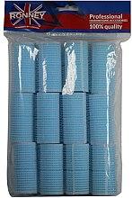 Düfte, Parfümerie und Kosmetik Klettwickler 28/63 blau - Ronney Professional Velcro Roller