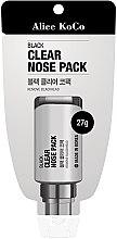 Düfte, Parfümerie und Kosmetik Reinigende Nasenmaske gegen Mitesser - Alice Koco Black Clear Nose Pack