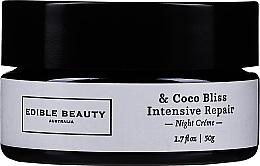 Düfte, Parfümerie und Kosmetik Regenerierende Nachtcreme - Edible Beauty Coco Bliss Intensive Repair Night Creme