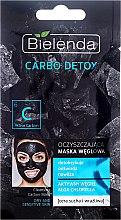 Düfte, Parfümerie und Kosmetik Reinigende Gesichtsmaske mit Aktivkohle - Bielenda Carbo Detox Cleansing Mask Dry and Sensitive Skin