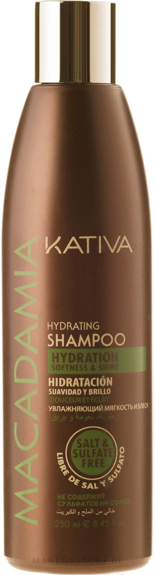 Feuchtigkeitsspendendes Shampoo für normales und strapaziertes Haar - Kativa Macadamia Hydrating Shampoo — Bild 250 ml