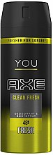 "Düfte, Parfümerie und Kosmetik Deospray ""Clean Fresh"" - Axe You Clean Fresh Deodorant Spray"