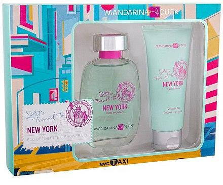 Mandarina Duck Let's Travel To New York For Woman - Duftset (Eau de Toilette 100ml + Duschgel 100ml) — Bild N1