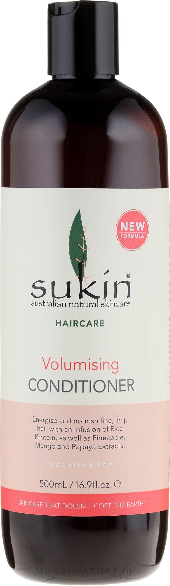 Volumen-Balsam für feines und schlaffes Haar - Sukin Volumising Conditioner — Bild 500 ml