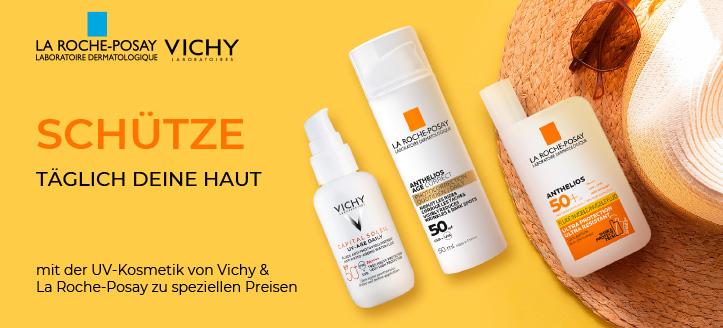20% Rabatt auf Sonnenschutzartikel von Vichy & La Roche-Posay. Die Preise auf der Website sind inklusive Rabatt