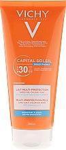 Düfte, Parfümerie und Kosmetik Sonnenschutzmilch mit Hyaluronsäure SPF 30 - Vichy Capital Soleil Beach Protect Lait Multi Protection SPF30