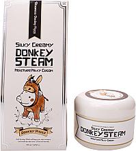 Düfte, Parfümerie und Kosmetik Feuchtigkeitsspendende straffende und glättende Gesichtscreme mit Eselsmilch, Mandelextrakt und Adenosin - Elizavecca Silky Creamy Donkey Steam Moisture Milky Cream