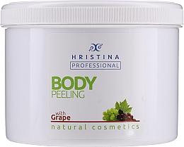 Düfte, Parfümerie und Kosmetik 100% Natürliches Körperpeeling mit Traubenkernöl - Hristina Professional 100% Natural Grape Body Peeling