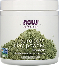 Düfte, Parfümerie und Kosmetik 100% Reine entgiftende europäische Tonerde für das Gesicht - Now Foods Solutions European Clay