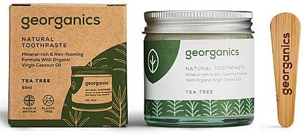 Natürliche Zahnpasta mit Teebaum-Geschmack - Georganics Tea Tree Natural Toothpaste — Bild N1
