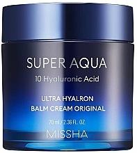 Düfte, Parfümerie und Kosmetik Feuchtigkeitsspendender Gesichtscreme-Balsam mit Hyaluronsäure - Missha Super Aqua Ultra Hyalron Balm Cream Original