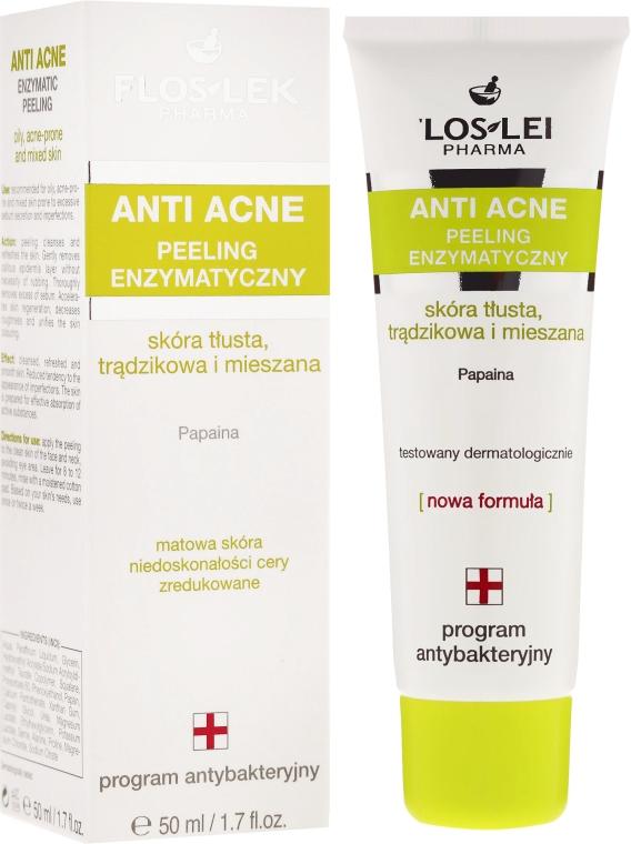 Enzymatisches Anti-Akne Gesichtspeeling für fettige und Mischhaut - Floslek Anti Acne Peeling — Bild N1