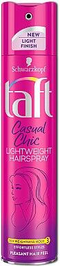"""Haarlack """"Casual Chic"""" Mittlerer Halt - Schwarzkopf Taft Casual Chic Lightweight Hairspray — Bild N1"""