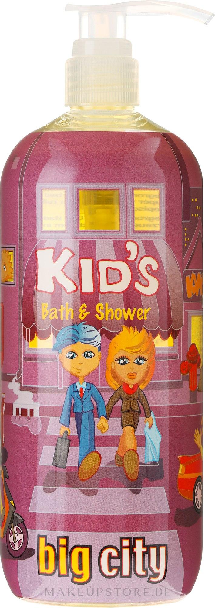 Bade- und Duschgel für Kinder mit tropischem Fruchtduft Big City - Hegron Kid's Big City Bath & Shower — Bild 950 ml