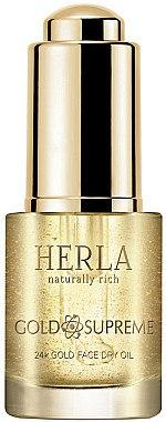 Trockenes Gesichtsöl mit 24k Gold - Herla Gold Supreme 24K Gold Face Dry Oil — Bild N1