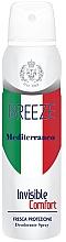 Düfte, Parfümerie und Kosmetik Deospray - Breeze Mediterranean Invisible Comfort Deodorant Spray