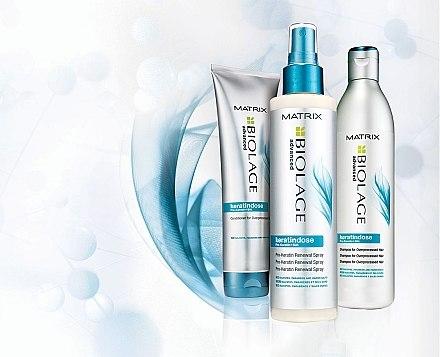 Aufbauendes Shampoo für überstrapaziertes Haar - Biolage Keratindose Pro Keratin Shampoo — Bild N3
