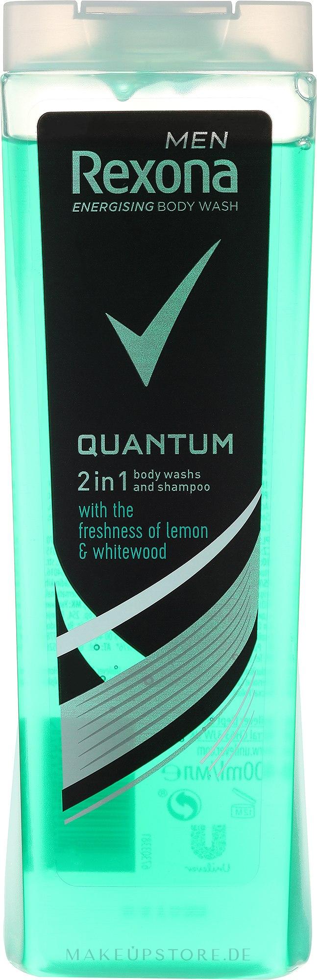 2in1 Shampoo & Duschgel - Rexona Men Quantum Shower Gel Body & Hair — Bild 250 ml