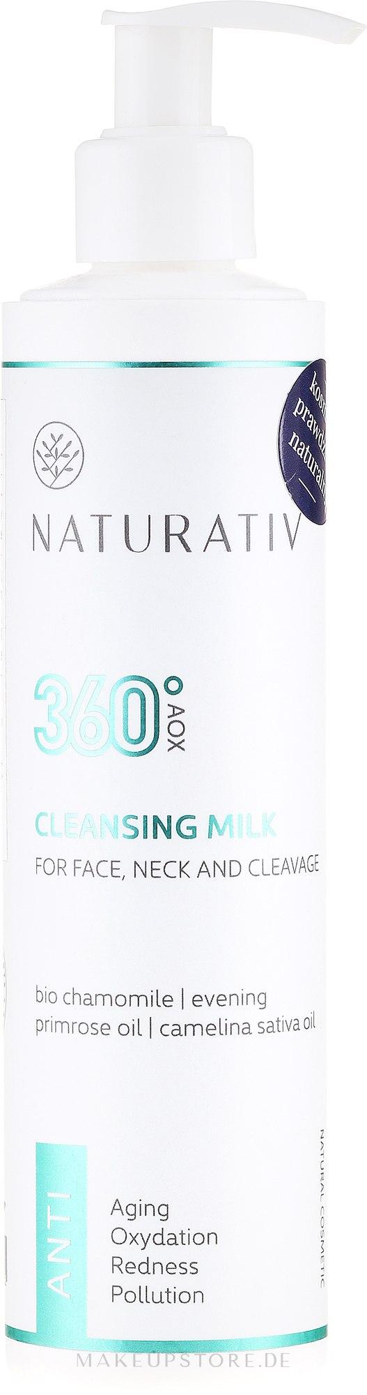Reinigungsmilch für Gesicht und Hals mit Kamille und Primelöl - Naturativ 360° AOX Cleansing Milk — Bild 250 ml
