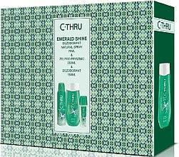 Düfte, Parfümerie und Kosmetik C-Thru Emerald Shine - Körperpflegeset (Deodorant/150ml + Körperspray/75ml + Duschgel/250ml)