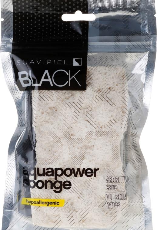 Badeschwamm beige - Suavipiel Black Aqua Power Sponge — Bild N2