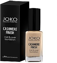 Düfte, Parfümerie und Kosmetik Mattierende Foundation - Joko Cashmere Finish Mat & Cover Foundation