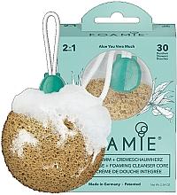 Düfte, Parfümerie und Kosmetik 2in1 Duschschwamm mit Cremeschaumherz und Aloe Vera-Duft - Foamie Aloe You Vera Much Shower Sponge