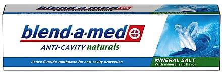 Zahnpasta Anti-Cavity Naturals Mineral Salt - Blend-a-Med Anti-Cavity Naturals Mineral Salt — Bild N1