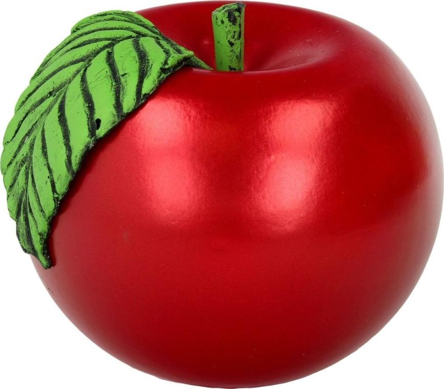 Dekorative Kerze Apple rot - Artman Apple Candle Ø10cm — Bild N1