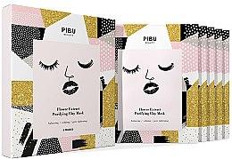 Düfte, Parfümerie und Kosmetik Gesichtspflegeset - Pibu Beauty Flower Extract Purifying Clay Mask Set (Gesichtsmasken 5x18g)