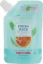Düfte, Parfümerie und Kosmetik Mizellen-Reinigungswasser Wassermelone - Bielenda Fresh Juice Detoxifying Face Micellar Water Watermelon (Refill)