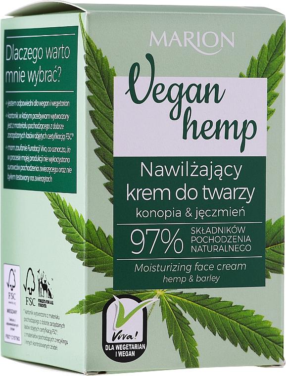 Feuchtigkeitsspendende Gesichtscreme mit Hanf und Gerste - Marion Vegan Hemp Moisturizing Face Cream Hemp & Barley