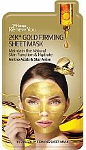Düfte, Parfümerie und Kosmetik Straffende und feuchtigkeitsspendende Tuchmaske für das Gesicht mit 24K Gold, Aminosäuren und Sternanis - 7th Heaven Renew You 24K Gold Firming Sheet Mask