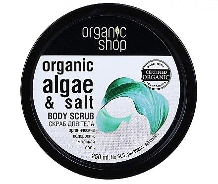 Körperpeeling mit Bio Algenextrakt und Meersalz - Organic Shop Body Scrub Organic Algae & Sea Salt — Bild N2