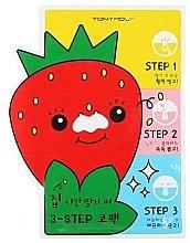 Düfte, Parfümerie und Kosmetik Nasenporenstreifen gegen Mitesser - Tony Moly Homeless Strawberry Seeds 3-step Nose Pack