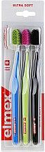 Düfte, Parfümerie und Kosmetik Zahnbürsten ultra weich Swiss Made blau, grün, schwarz 3 St. - Elmex Swiss Made