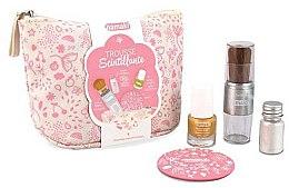 Düfte, Parfümerie und Kosmetik Nagelset - Namaki Glitter Kit (Nagellack 7.5ml + Nagelpuder 7g + Puderpinsel + Kosmetiktasche)