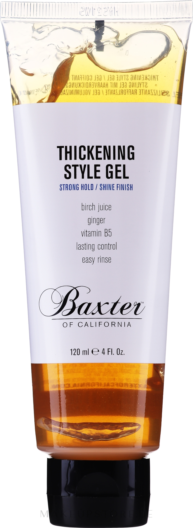 Haarstylinggel für mehr Glanz und Volumen Starker Halt - Baxter of California Thickening Style Gel — Bild 120 ml