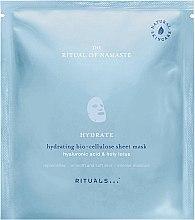 Düfte, Parfümerie und Kosmetik Feuchtigkeitsspendende Bio-Zellulose Tuchmaske für Gesicht mit Hyaluronsäure & heiligem Lotus - Rituals The Ritual of Namaste Hydrating Sheet Mask