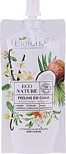 Düfte, Parfümerie und Kosmetik Körperpeeling mit Vanille, Kokosnussmilch und Orange - Bielenda Eco Nature Vanilla Coconut Milk Orange Cleansing Nourishing Body Scrub