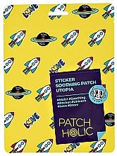 Düfte, Parfümerie und Kosmetik Beruhigende Gesichtspatches mit grünem Tee und Aloe Vera - Patch Holic Sticker Soothing Patch Utopia