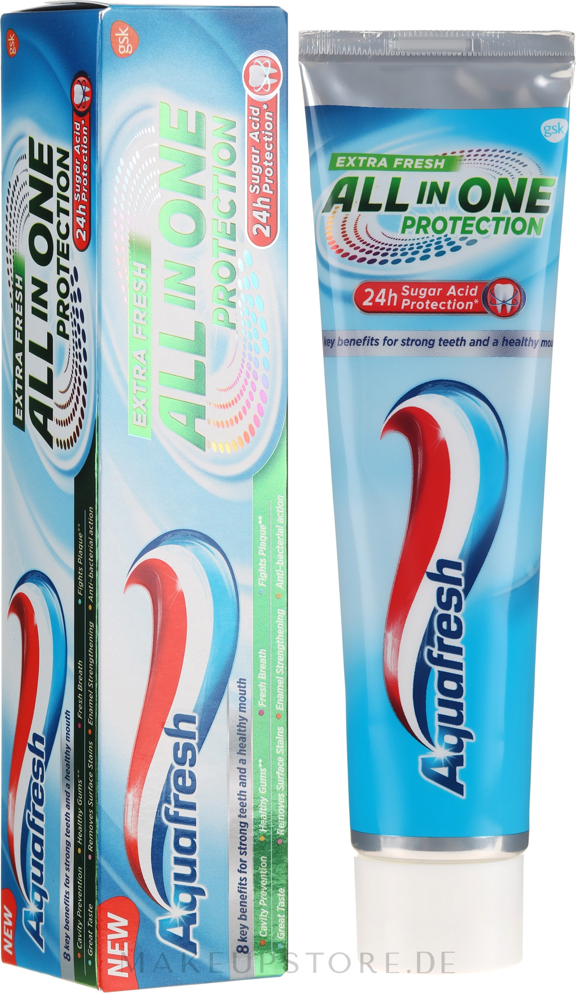 Zahnpasta All In One Protection Extra Fresh - Aquafresh All In One Protection Extra Fresh — Bild 100 ml