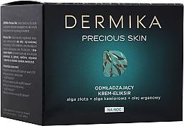 Düfte, Parfümerie und Kosmetik Verjüngendes Nachtcreme-Elixier für das Gesicht - Dermika Precious Skin Rejuvenating night Cream-Elixir