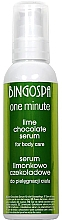 Düfte, Parfümerie und Kosmetik Pflegendes Körperserum Schokolade und Lime - BingoSpa Serum Chocolate-Lime
