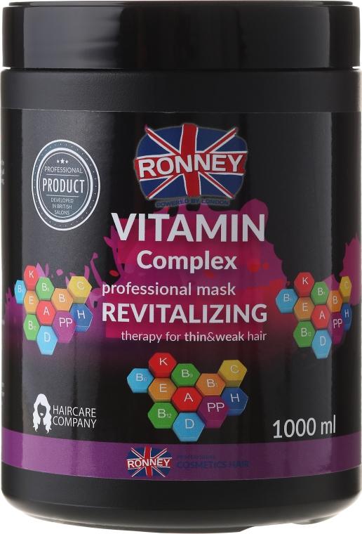 Revitalisierende Haarmaske mit Vitaminkomplex für dünnes und schwaches Haar - Ronney Vitamin Complex Revitalizing Therapy Mask — Bild N1