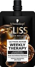 Düfte, Parfümerie und Kosmetik Intensivpflege zum Ausspülen für sehr geschädigtes und trockenes Haar - Schwarzkopf Gliss Kur Ultimate Repair Weekly Therapy