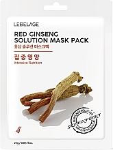 Düfte, Parfümerie und Kosmetik Intensiv nährende Tuchmaske für das Gesicht mit rotem Ginseng - Lebelage Red Ginseng Solution Mask