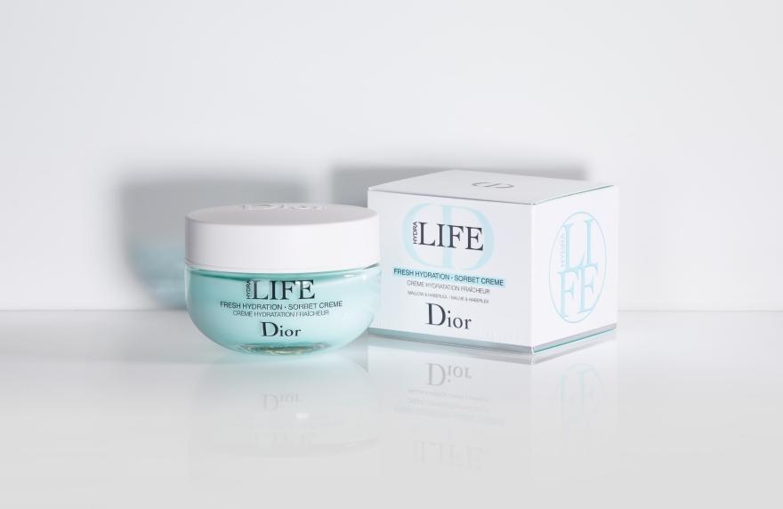Tief feuchtigkeitsspendende Gesichtscreme mit Malven- und Haberleablätterextrakt - Dior Hydra Life Fresh Hydration Sorbet Creme — Bild N2