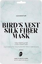 """Düfte, Parfümerie und Kosmetik Intensiv pflegende Gesichtstuchmaske """"Vogelnest"""" mit Eukalyptusbaumsextrakt - Kocostar Bird's Nest Silk Fiber Mask"""